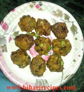hara pyaz ke pakode-Bihari Recipes